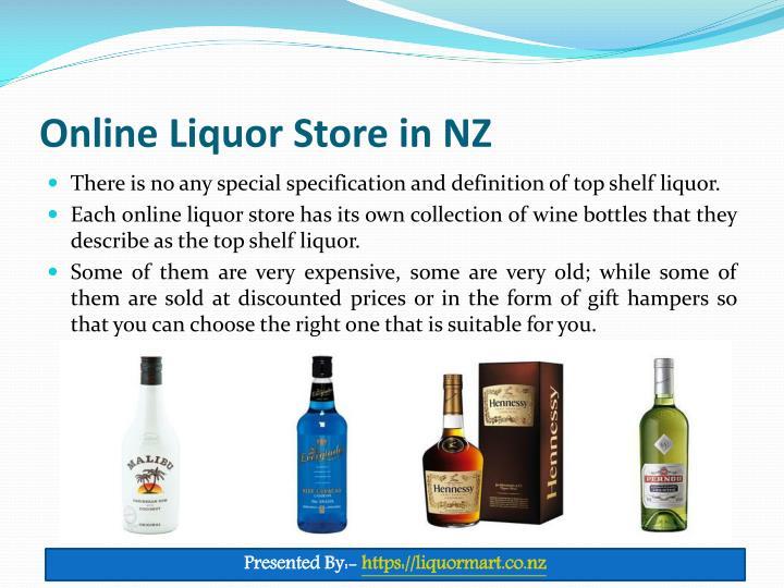Online Liquor Store in NZ
