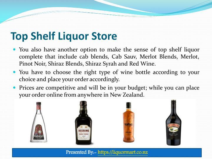 Top Shelf Liquor Store