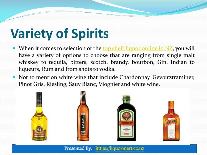 Variety of Spirits