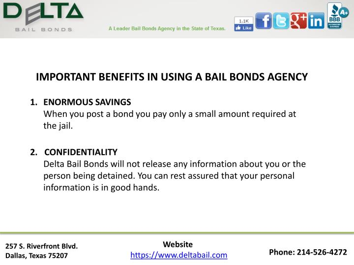 IMPORTANT BENEFITS IN USING A BAIL BONDS AGENCY