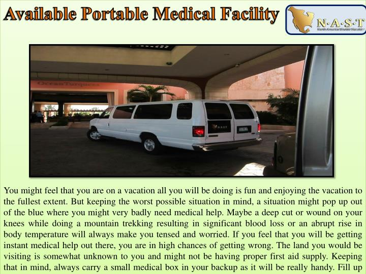 Available Portable Medical Facility