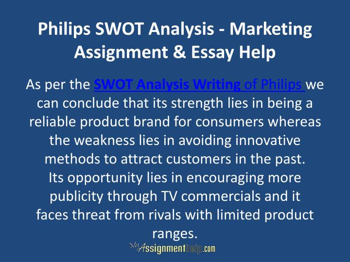 Philips SWOT Analysis - Marketing Assignment & Essay Help