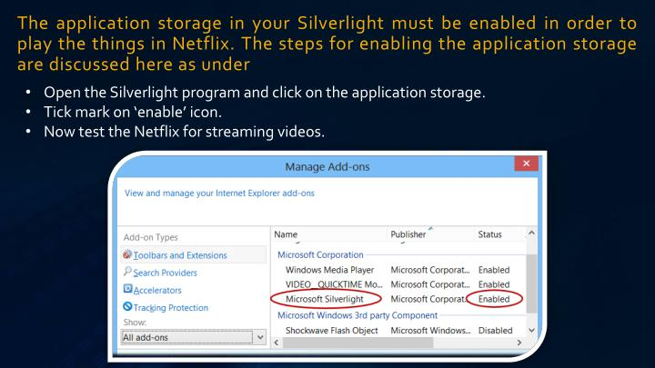 Open the Silverlight program and click on the application storage.