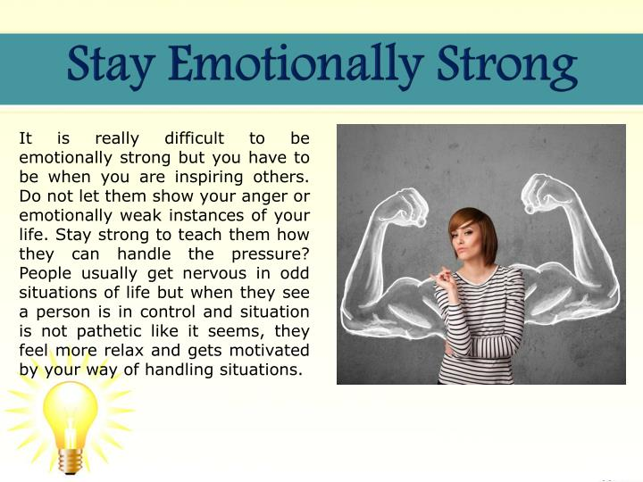 Stay Emotionally Strong