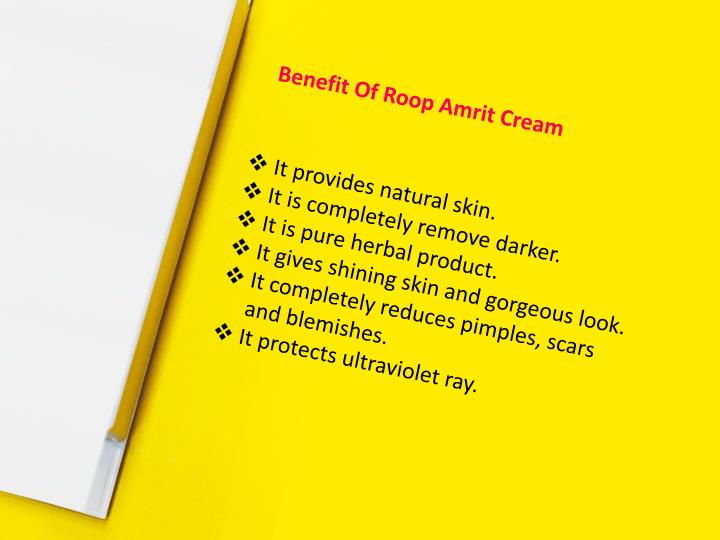 Benefit Of Roop Amrit Cream