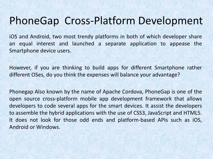 Phonegap cross platform development