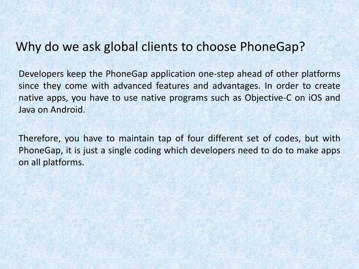 Why do we ask global clients to choose