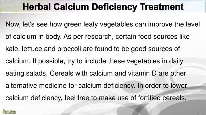 Herbal Calcium Deficiency Treatment