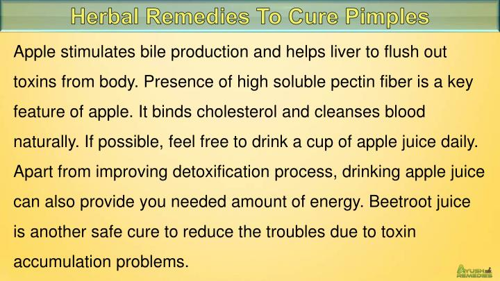 Herbal Remedies To Cure Pimples