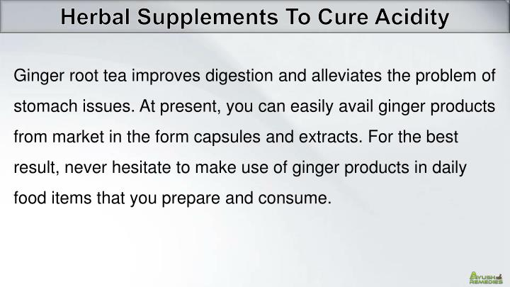Herbal Supplements To Cure Acidity