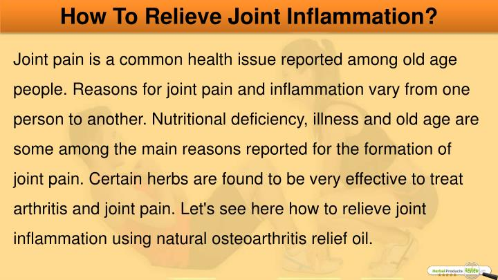 How To Relieve Joint