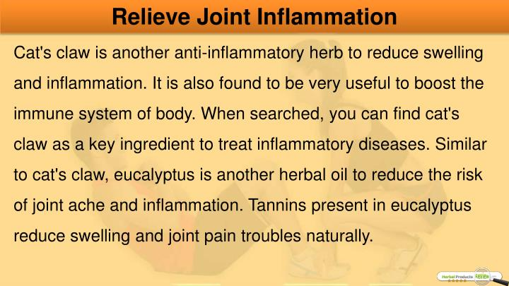 Relieve Joint Inflammation