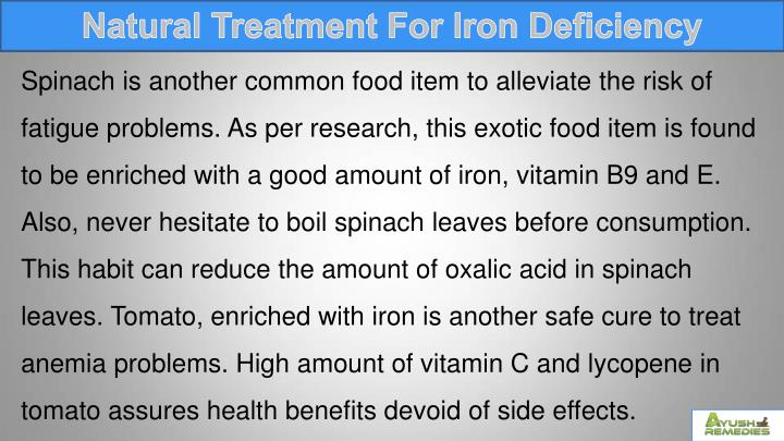 Natural Treatment For Iron Deficiency