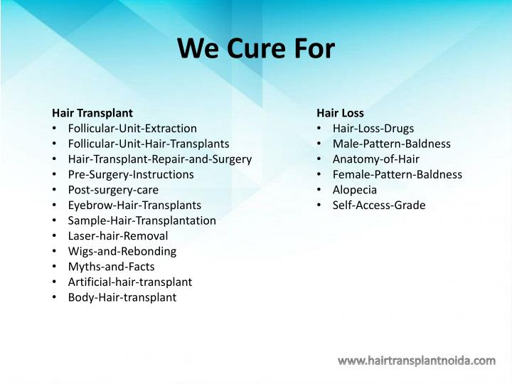 We Cure For