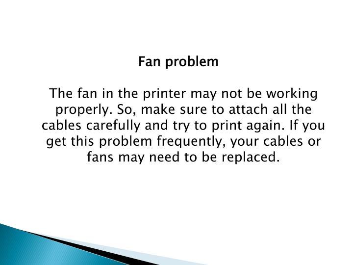 Fan problem