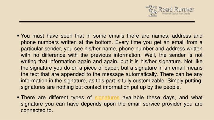 You must have seen that in some emails there are names, address and phone numbers written at the bot...
