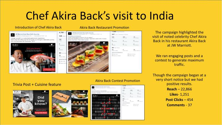 Chef Akira Back's visit to India