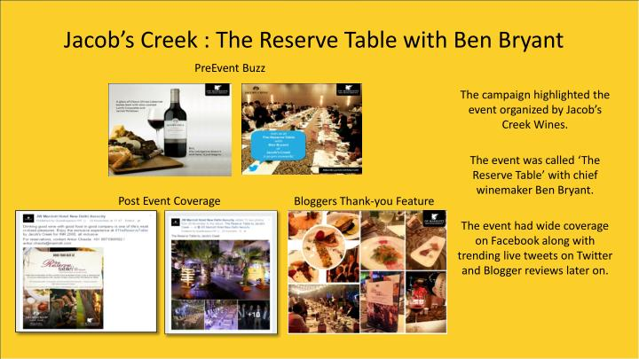 Jacob's Creek : The Reserve Table with Ben Bryant