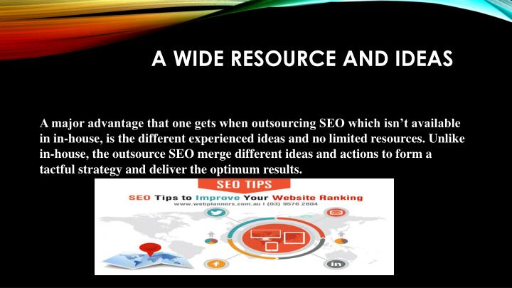 A Wide Resource And Ideas