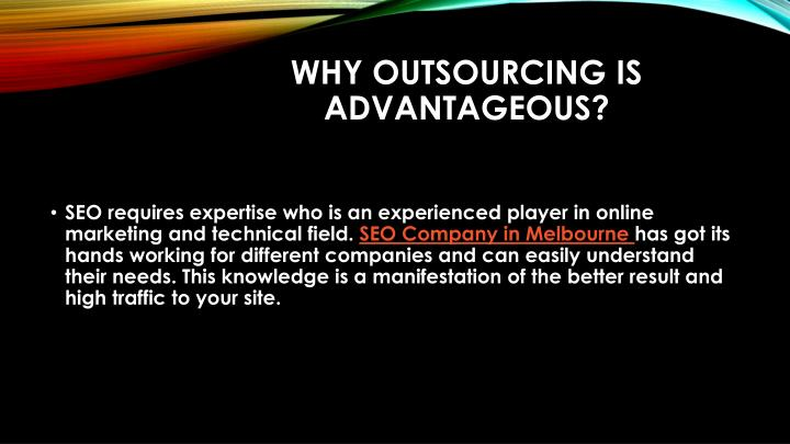 Why Outsourcing Is Advantageous?