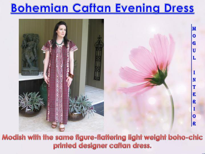 Bohemian Caftan Evening Dress
