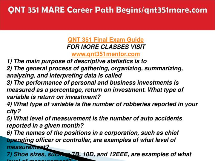 Qnt 351 mare career path begins qnt351mare com2