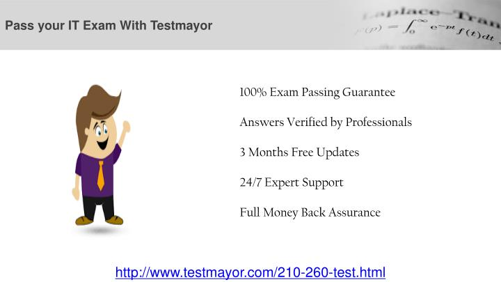 Pass your it exam with testmayor