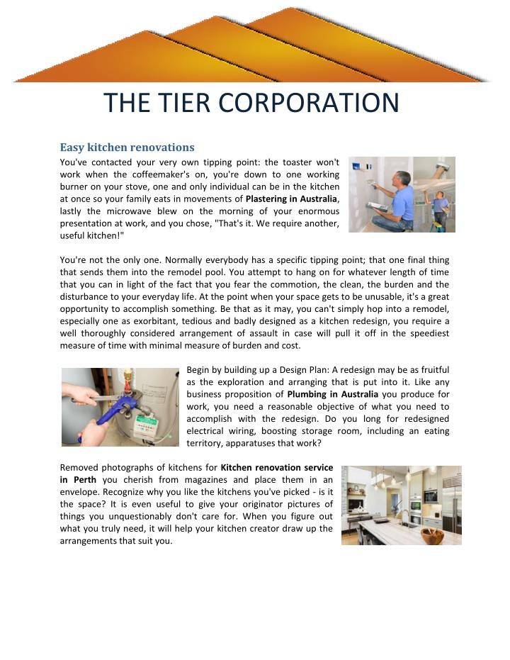 THE TIER CORPORATION