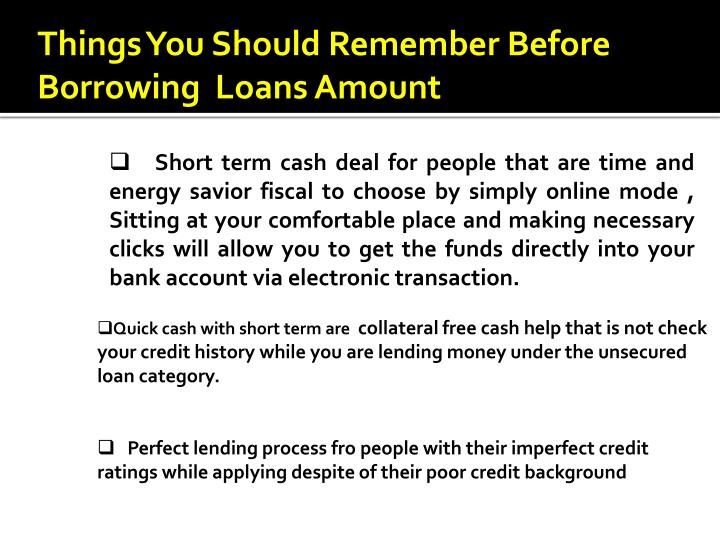 Things You Should Remember Before Borrowing  Loans Amount