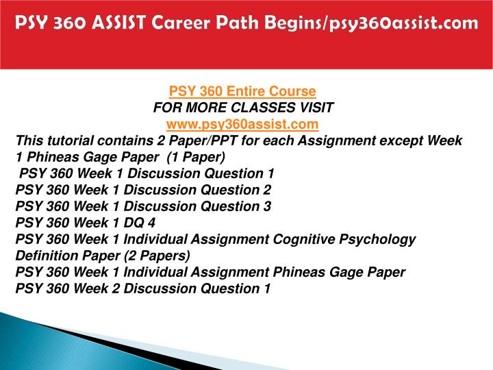 Psy 360 assist career path begins psy360assist com1