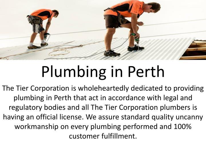 Plumbing in Perth