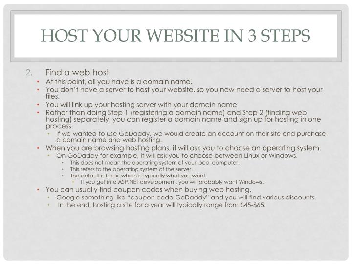 Host your Website in 3 Steps