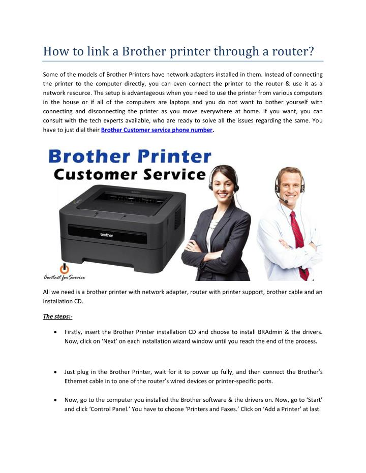 How to link a Brother printer through a router?