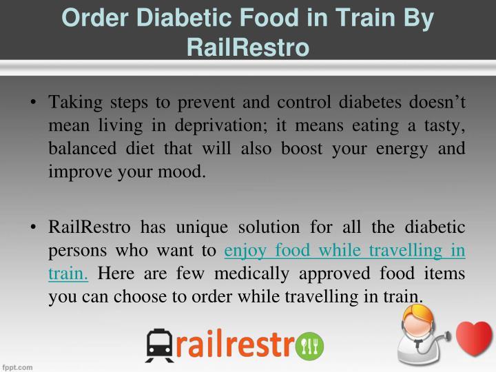 Order Diabetic Food in Train By RailRestro