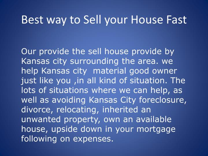 Best way to sell your house fast