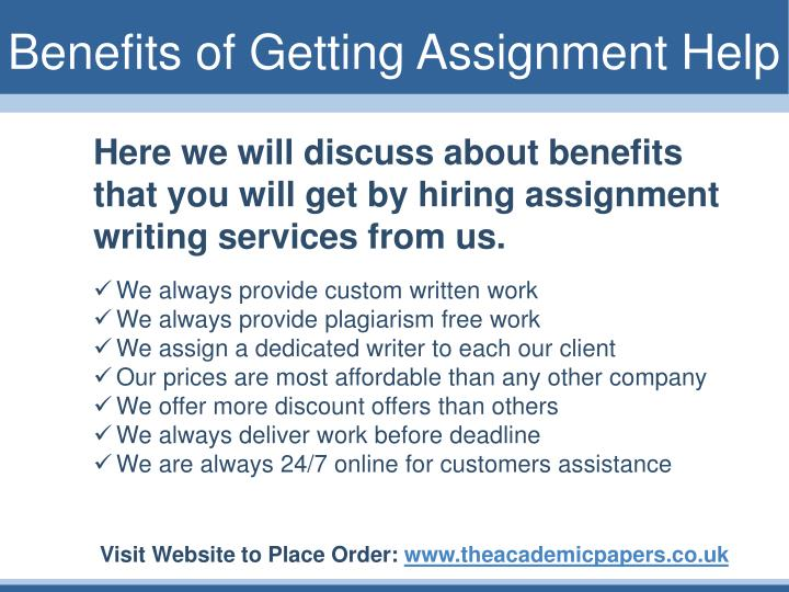 Benefits of Getting Assignment Help