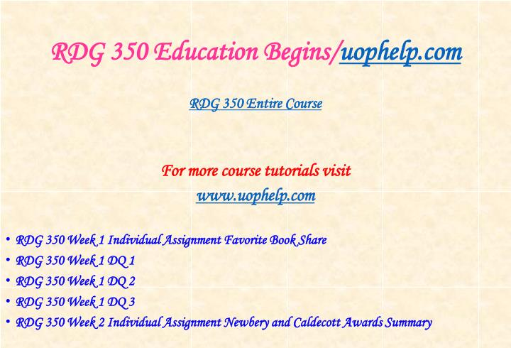 Rdg 350 education begins uophelp com1