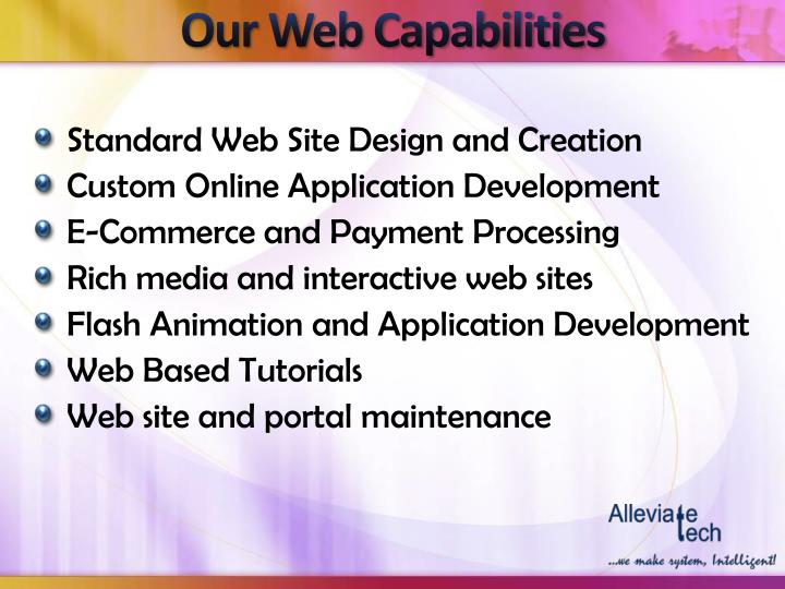 Our Web Capabilities