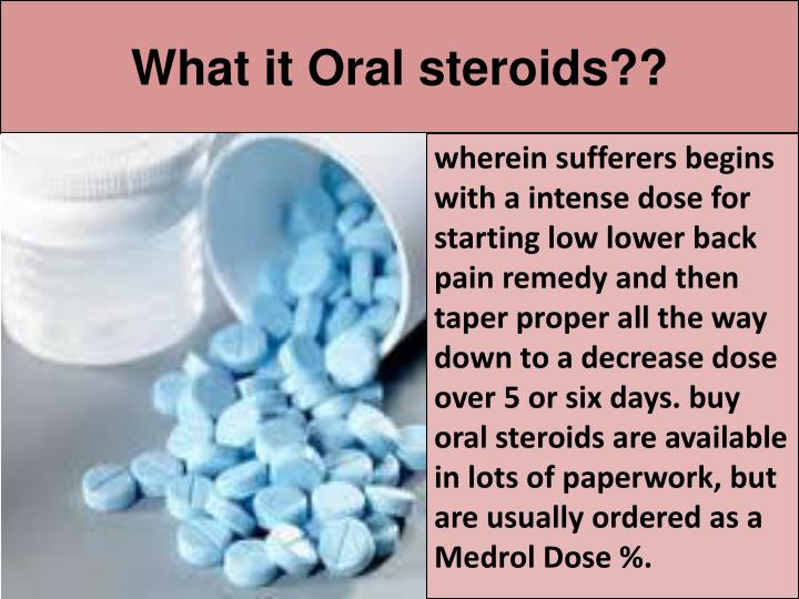 What it oral steroids