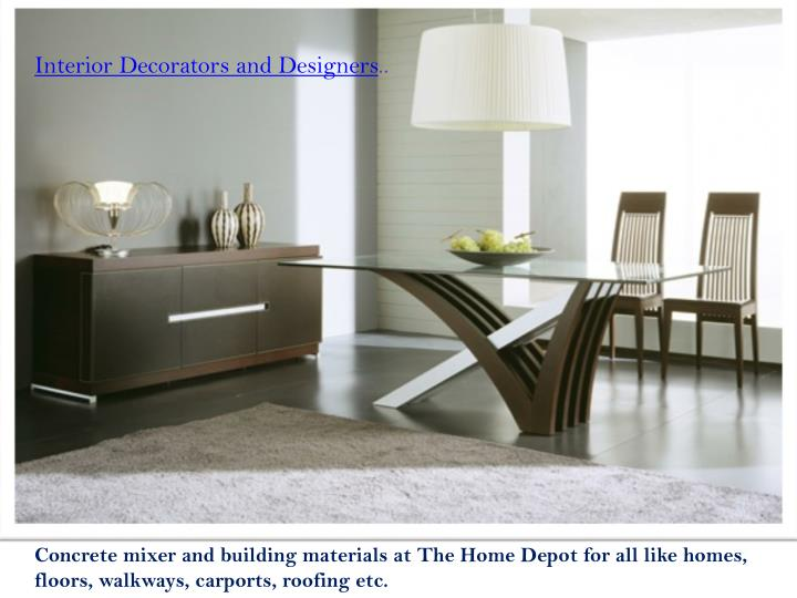 Interior Decorators and Designers
