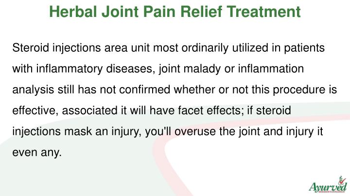 Herbal Joint Pain Relief Treatment