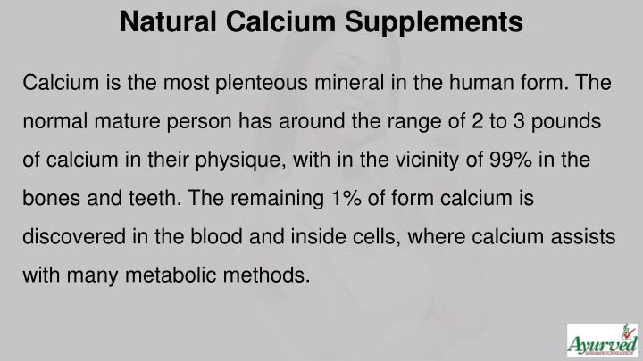 Natural Calcium Supplements
