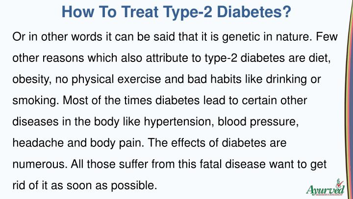 How To Treat Type-2 Diabetes?