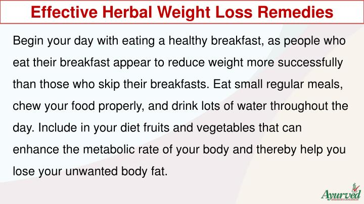Effective Herbal Weight Loss Remedies
