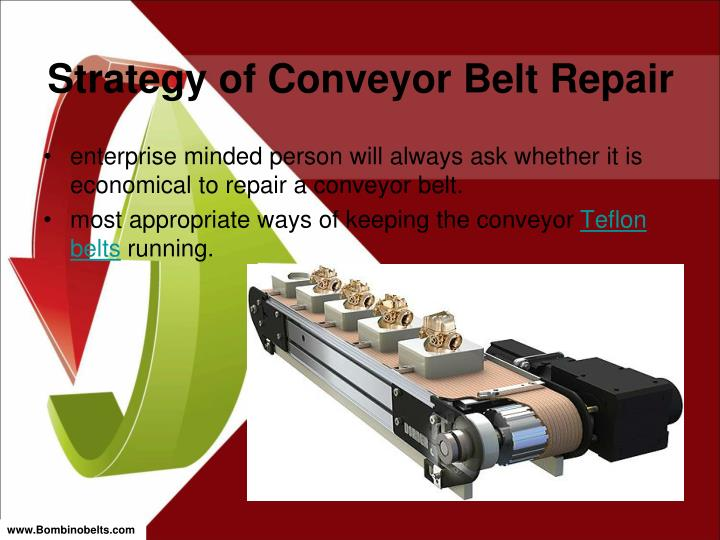 Strategy of conveyor belt repair1