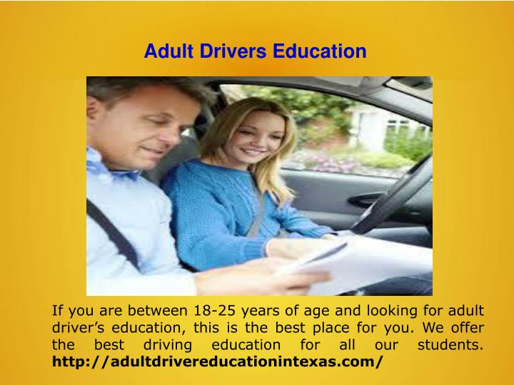 Adult Drivers Education
