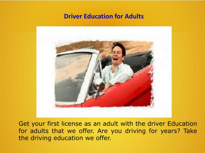 Driver Education for Adults