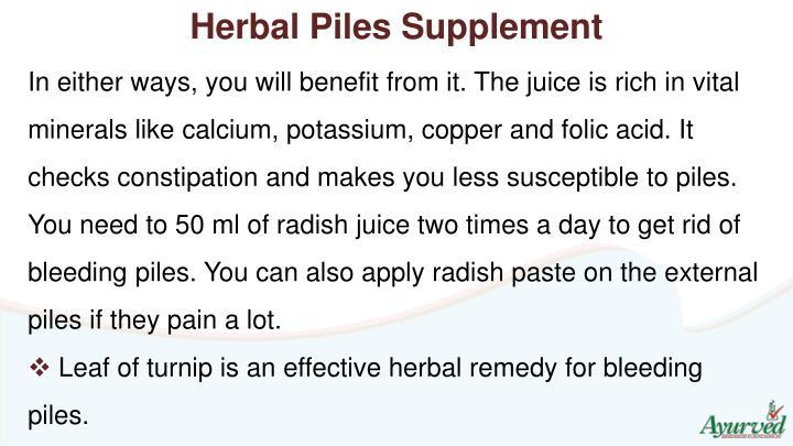 Herbal Piles Supplement