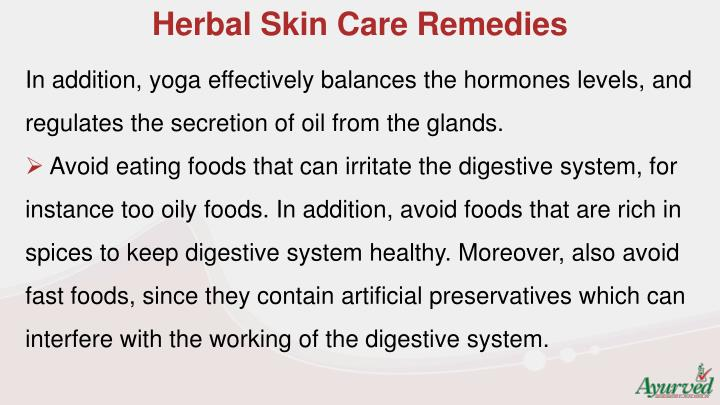 Herbal Skin Care Remedies