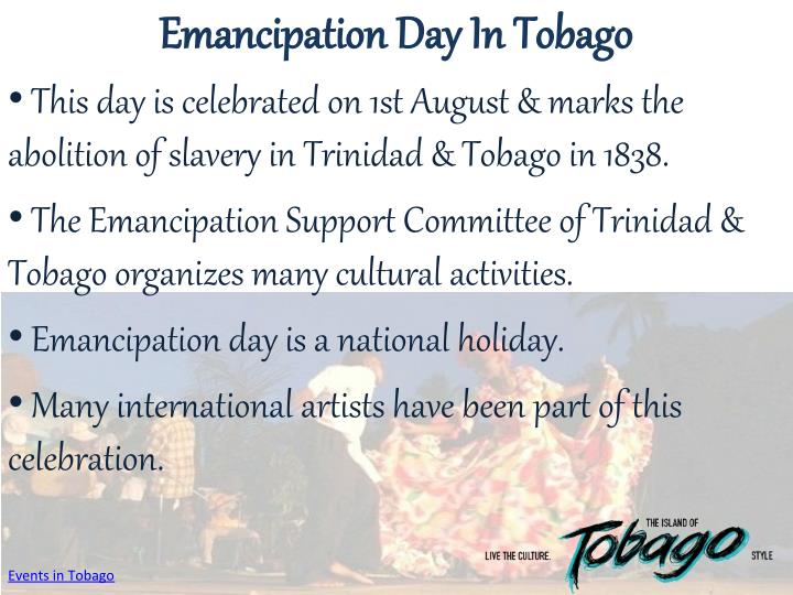 Emancipation Day In Tobago